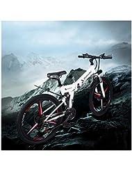 BNMZX Bicicleta eléctrica Plegable Bicicleta de montaña Ciclomotor 48 V Litio de una Rueda 26 Bicicleta