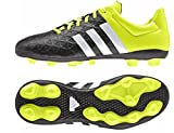 adidas Ace15.4 FxG, Unisex-Kinder Fußballschuhe, Gelb (Core Black/Ftwr White/Solar Yellow), 36 2/3 EU (4 Kinder UK)