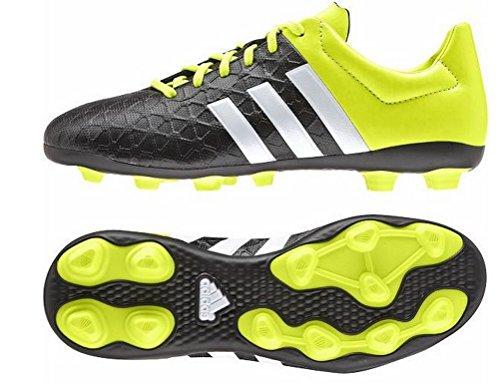 adidas - Ace15.4 Fxg, Scarpe da calcio Unisex – Bambini Noir (Core Black/White/Solar Yellow)