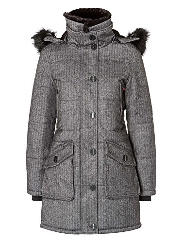 petrûs Damen Jacke winddicht, wasserabweisend, atmungsaktiv warm dunkelgrau 42/XL