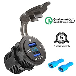 Quick-Charge-30-USB-Auto-Steckdose-KFZ-Ladegert-Buchse