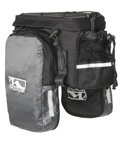 M-Wave / 122312 Sacoche porte-bagages extensible Noir/Argent/Blanc