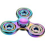 Anself - Colorido Tri Spinner de Dedo de Metal, 608 Acero Cojinete, Juguete de Niños Jóvenes Adultos para Atenciones Anti-ansiedad Anti-estrés