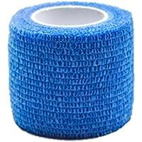 cohesivo vendaje adhesivo rollo Venda cinta flexible vendaje deportivo no tejido. 4.5m x 5cm (azul marino)
