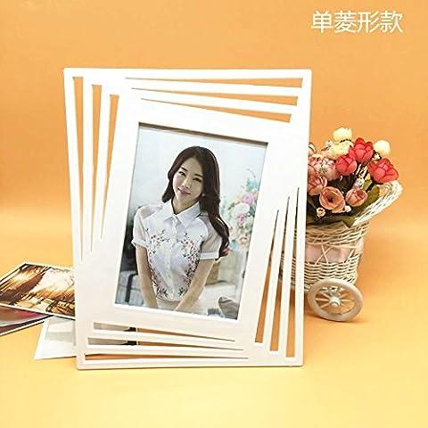 Brief creativo sui frame bambini photo frame box con desktop 1 ,12,7*17.8cm) , pollici (Diamante)