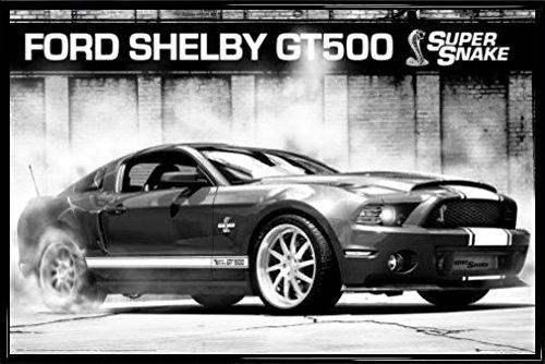 voitures-poster-et-cadre-plastique-ford-mustang-shelby-gt500-supersnake-91-x-61cm