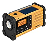 Sangean MMR-88 tragbares Kurbelradio (UKW/MW-Tuner, Taschenlampe, Notfall-Signalton, integrierter Li-Ion-Akku, Kopfhöreranschluss) gelb/schwarz - 4