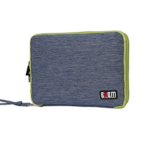 BUBM Organizer Borsa da Viaggio per USB, SD, Cavi, Batterie, gli Hard Disk Esterni e tutti i Piccoli Accessori Tecnologici, Custodia per ipad, Blu scuro
