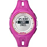 Timex TW5K87400F5 Unisex Ironman Run x20 GPS Grey Digital Dial Magenta Rubber Strap Runner Watch