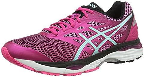 Asics Gel-Cumulus 18, Chaussures de Running - Femme -, Rosa (Sport Pink/Aruba Blue/Black), 41.5 EU