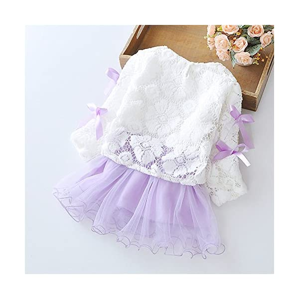 Tefamore Vestidos Bebe Niña, Recién Bebé Niñas Tutú Princesa Vestido Pentagram Bautizo Bebé Niñas Vestidos de Manga… 3