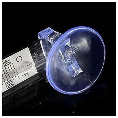 Aquarium Thermometer Saugnapf - SODIAL(R) 5 x Neu Glas Meter Aquarium Wasser Temperatur Aquarium Thermometer Saugnapf