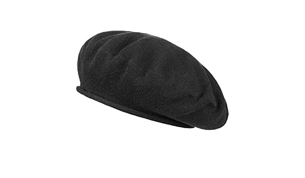 bba81f83c Hanna Cotton Beret Basque beret beret (One Size - black): Amazon.co ...