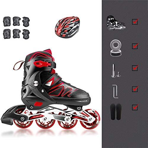 LBX Sports Kids verstellbare beleuchtende Inline-Skates mit LED-Rädern mit voller Beleuchtung, lustige blinkende Rollerblades für Jungen und Mädchen/S