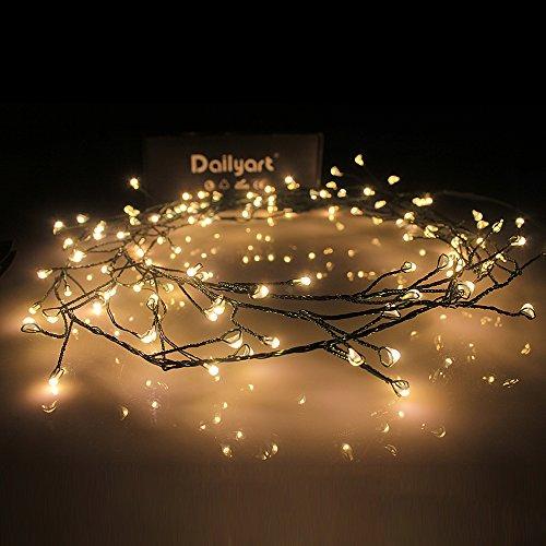 Micro Lichterkette, Dailyart Antike 120er LED-Lichterkette Warm-Weiß Innen Micro Draht Vintage LED...