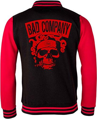 EZYshirt® Bad Company Unisex College Jacke Herren/Schwarz/Rot/Rot