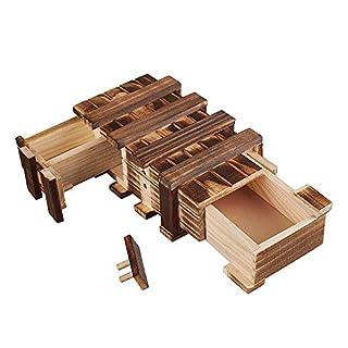 Amasawa Holzgeschenkbox,Magic Box mit 2 Fächern Zum Kreativen Verschenken Von Gutscheinen, Schmuck und Geld