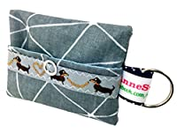 kackb Motif eutel Gris Distributeur de Sacs à déjections canines pour chien sachet Friandises Sacoche en toile cirée Promenades Waste cadeau propriétaire de chien dunette Bag chien