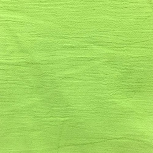 54 Lime Cotton Gauze Fabric-15 Yards Wholesale By the Bolt by Fabric Outlet (15yd Bolt)