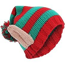 Textiles Universels Bonnet de Noël Tricoté Oreilles Style Elfe - Adulte  Unisexe da5fb9d9ecb