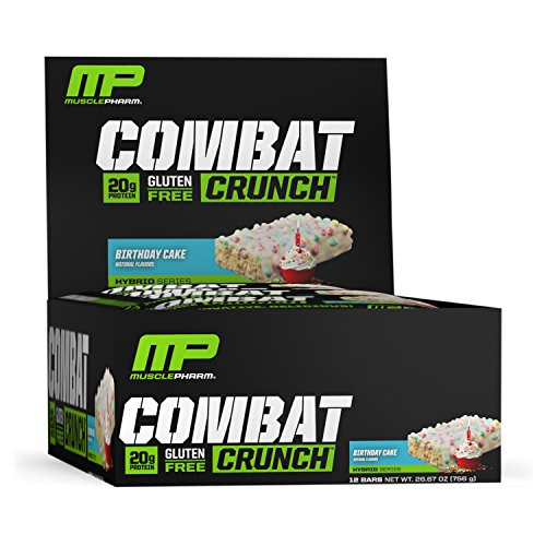 MusclePharm Combat Crunch Bars (12x63g) Birthday Cake, 756 g