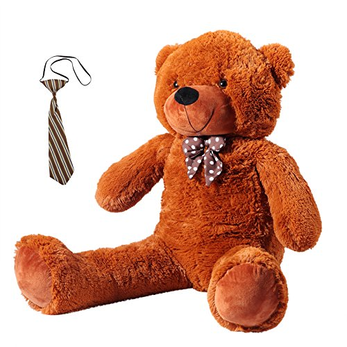 Yorbay Oso de Peluche gigante grande marrón oscuro 90 cm - 200 cm de Altura Muñeca de Juguete peluche de juguete (90cm)