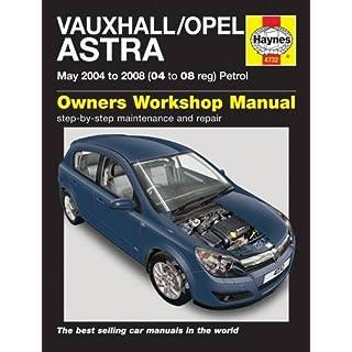 Vauxhall/Opel Astra Petrol (May 04 - 08) Haynes Repair Manual