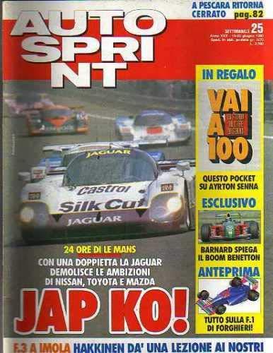 Autosprint Auto Sprint 25 Giugno 1990 Hakkinen, Barnard, Pocket Senna