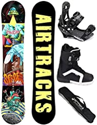 AIRTRACKS SNOWBOARD SET - TABLA SPACEMAN ROCKER 152 - FIJACIONES SAVAGE - SOFTBOOTS STRONG 42 - SB BOLSA/ NUEVO