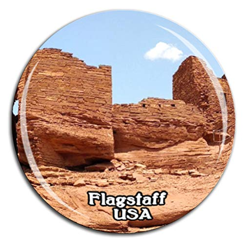 Weekino Wupatki National Monument Flagstaff Amerika USA Kühlschrankmagnet 3D Kristallglas Tourist City Travel Souvenir Sammlung Geschenk Stark Kühlschrank Aufkleber