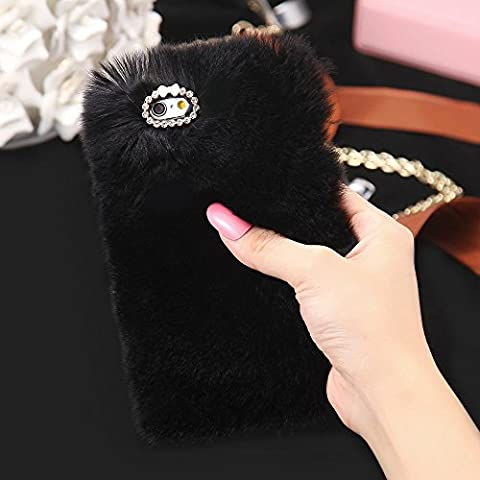iPhone 7 Plus Case, FLOVEME [ Imitation Rabbit Hair ][ Fluffy Villi ][ Washable ][ Adorable ][ Ultra Soft ] Faux Fur / Plush Protective Phone Cover for Apple iPhone 7 Plus 5.5