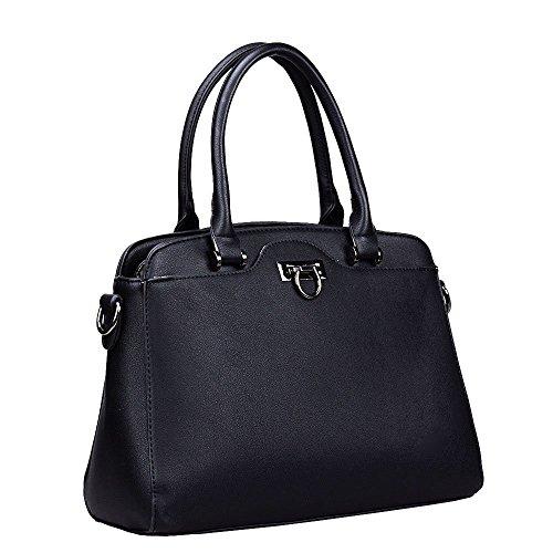 HB Style - Borsa sacchetto stile lusso Ragazza donna NERO