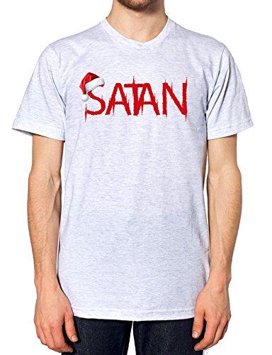 Satan Santa Hut, T-Shirt, grau, SatanSanta-TEE-ASH-MENS-XXL (Teufel Tee Mens)