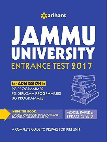 Jammu University Entrance Test 2017 (for Admissions in PG Programmes, PG Diploma Programmes & UG Programmes)
