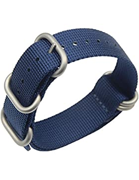 18mm königsblau High-End-superior NATO Stil ballistisches Nylon Uhrenarmband-Bügel Ersatz für Männer geflochten