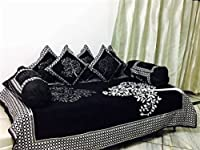 The set consists of 1 single bed bedsheet, 5 cushion covers and 2 bolester covers, is skin friendly, comfortable and durable. The bed sheet set is in beautiful color combination to enhance your decor.