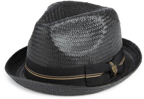 Brixton Hat Castor, Black Straw, M, 112-00002-0100 Castor Straw Fedora