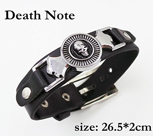 SUNKEE Death Note Cosplay Ryuuku Rivetto Polsino Braccialetto Figura Del Giocattolo Cosplay (Death N