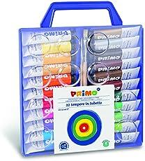 SCOOBOO Primo 22 Colors Poster Paint Tubes | Professional |Art | Painting | Painting Kit | Artist | 22 Colour Tubes | Shades | Palette | | Multicolour