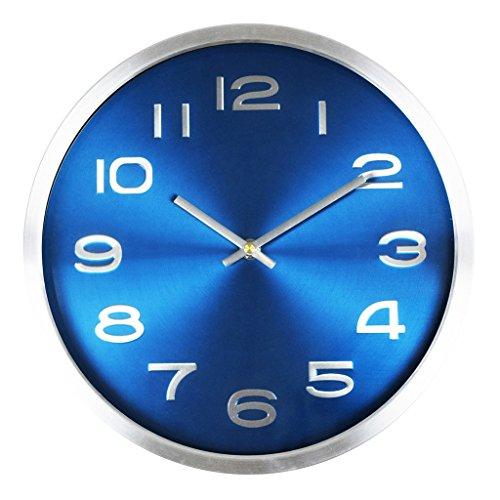 Fashion Wall Clock Salon Chambre Creative AN Horloge murale Mute Salon Rétro horloge murale Chambre à coucher Horloge (Couleur : # 3, taille : 30cm)