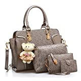 #10: LACIRA Women's Shoulder Bag, Hard Leather, Satchel, Card holder and handbag