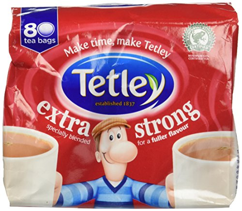 Tetley Extra Strong 80 Teabags 250 G (pack Of 6, Teabags 480 Teabags)