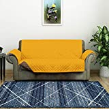 @home by Nilkamal Reversible 2 Seater Polyester Sofa Cover, Mustard & Brown