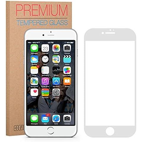 FUTLEX Premium Protector de pantalla de vidrio templado para iPhone 7 Plus - Blanco - PROTECCIÓN COMPLETA - vidrio de dureza 9 H - grosor de 0,33 mm - transparencia de alta definición - bordes redondeados 2,5 D - antigolpes - recubrimiento oleofóbico - tacto delicado - vidrio de alta calidad - fácil de instalar - adhesivo de silicona sin burbujas - vidrio japonés