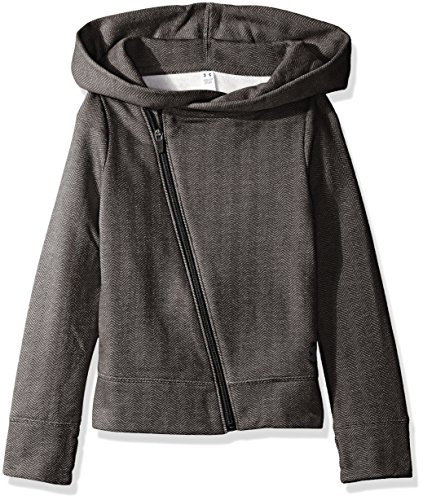 Under Armour Girls' Sweaterknit Full Zip Hoodie, Black/Stealth Gray, Youth X-Small