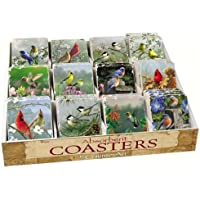 Counter Art CART91798 Bird Assortment with Counter Display 72 Coasters