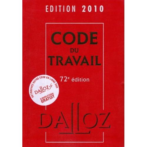 Code du travail 2010