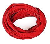 Kinder - Loop uni rot für Kinder und Jugendliche, Kids Schlauchschal, Schal Tuch für Mädchen und Jungs handmade