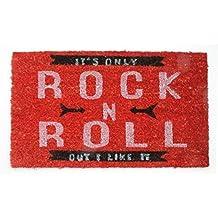 Música - It's Only Rock N Roll, Retro Style Felpudo Alfombrilla (70 x 40cm)