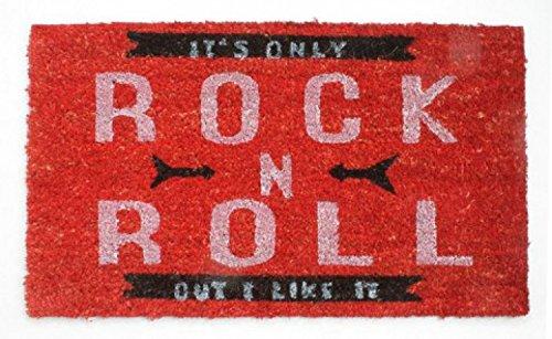 Felpudos Música It's Only Rock N Roll, Retro Style Felpudo Alfombrill